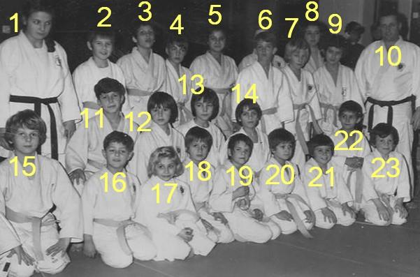 Judo Ferney 71-72 Pujadas Arch. O.Coupy noms