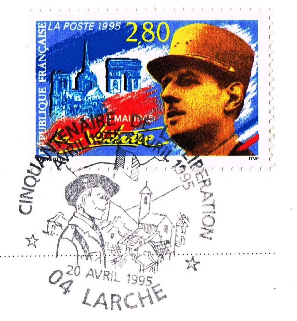 p10c PGR269c Larche 1945 2005 timbre 20cm