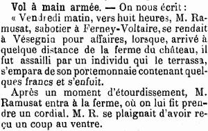 Journal de Genève, 10 février 1901