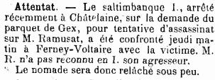 Journal de Genève, 15 février 1901