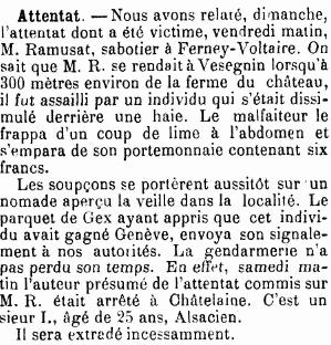 Journal de Genève, 11 février 1901